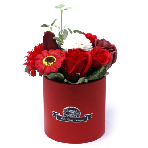 Rich Red Soap Bouquet Petite Gift Pot